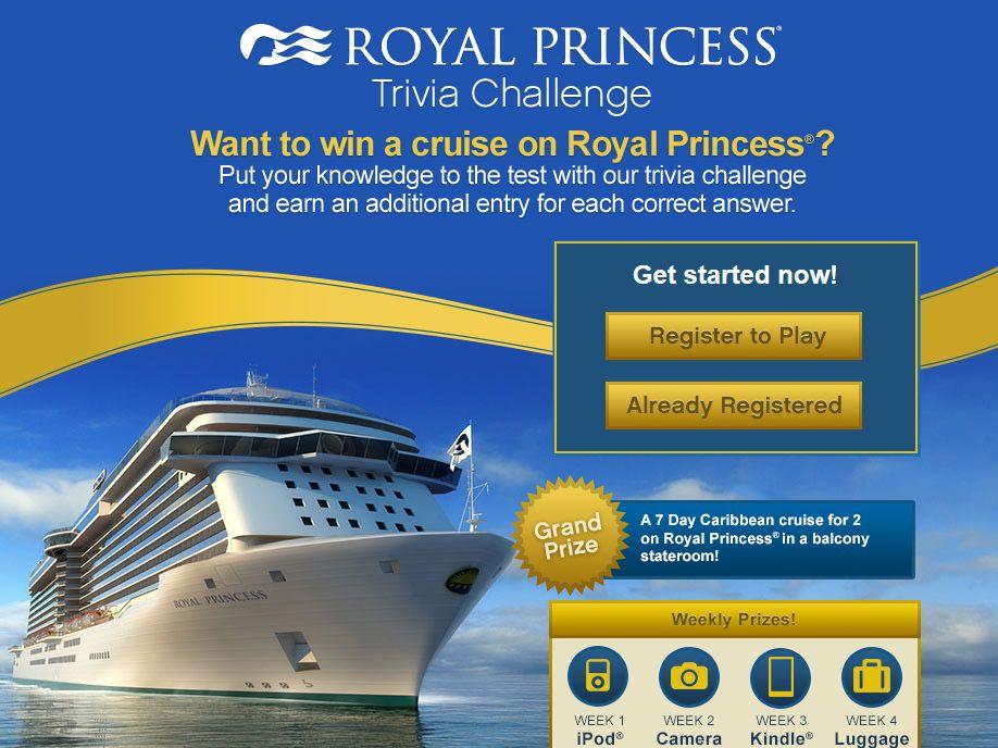Royal Princess Trivia Sweepstakes