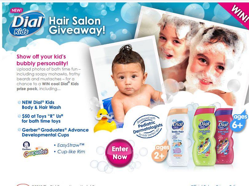 Dial Kids Hair Salon Sweepstakes