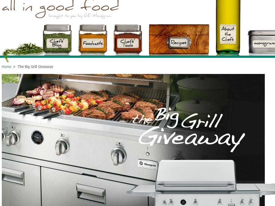 GE Monogram Big Grill Giveaway