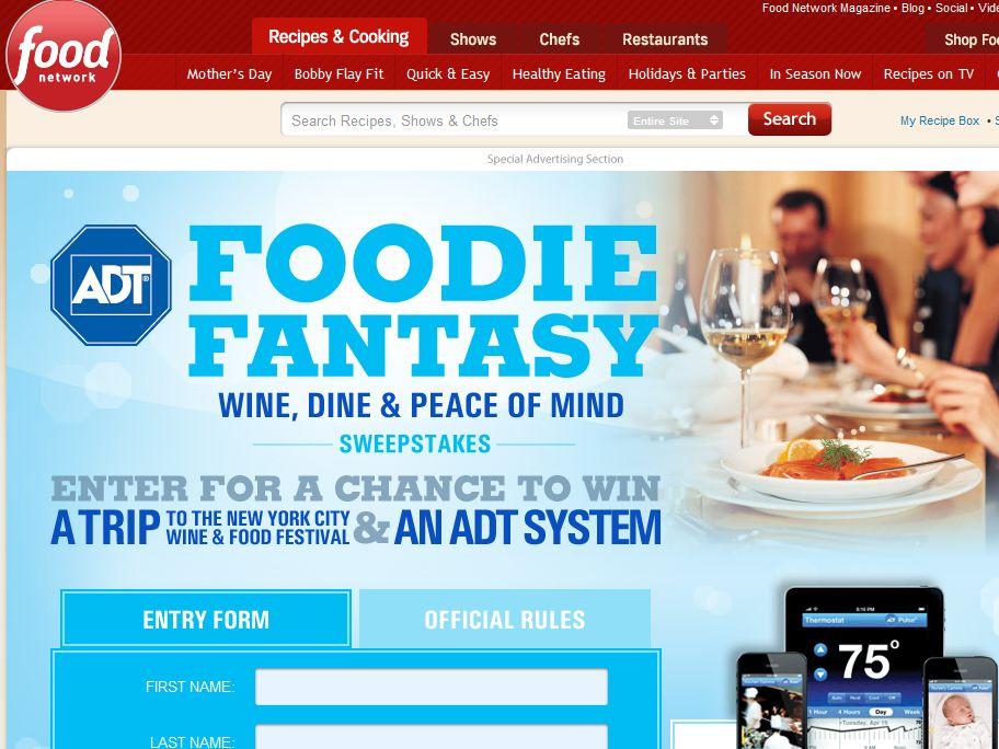 ADT Foodie Fantasy Wine, Dine & Peace of Mind Sweepstakes