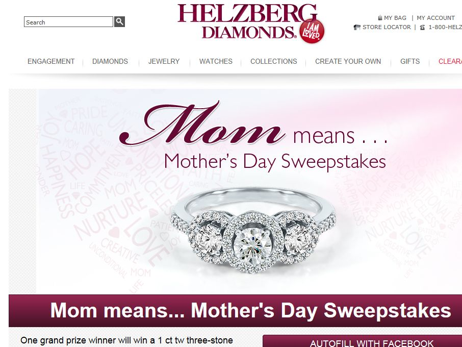 Helzberg Diamonds' 2013 Mother's Day Sweepstakes