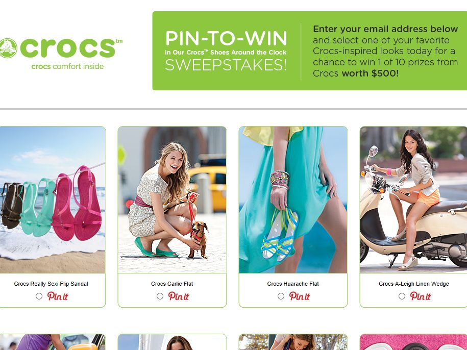 Crocs Around the Clock Sweepstakes