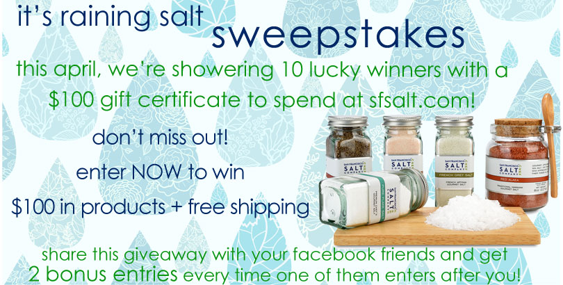 It's Raining Salt Sweepstakes – $1,000 in prizes
