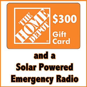 Royalegacy Reviews & More Giveaway – $300 Home Depot GC & a Solar Powered Emergency Radio
