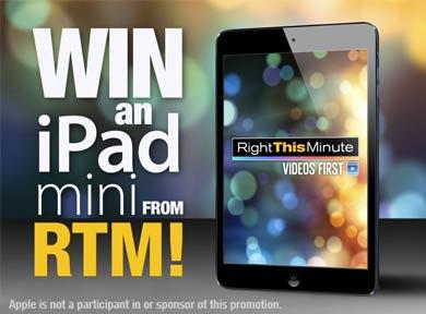 iPad Mini Giveway RightThisMinute!