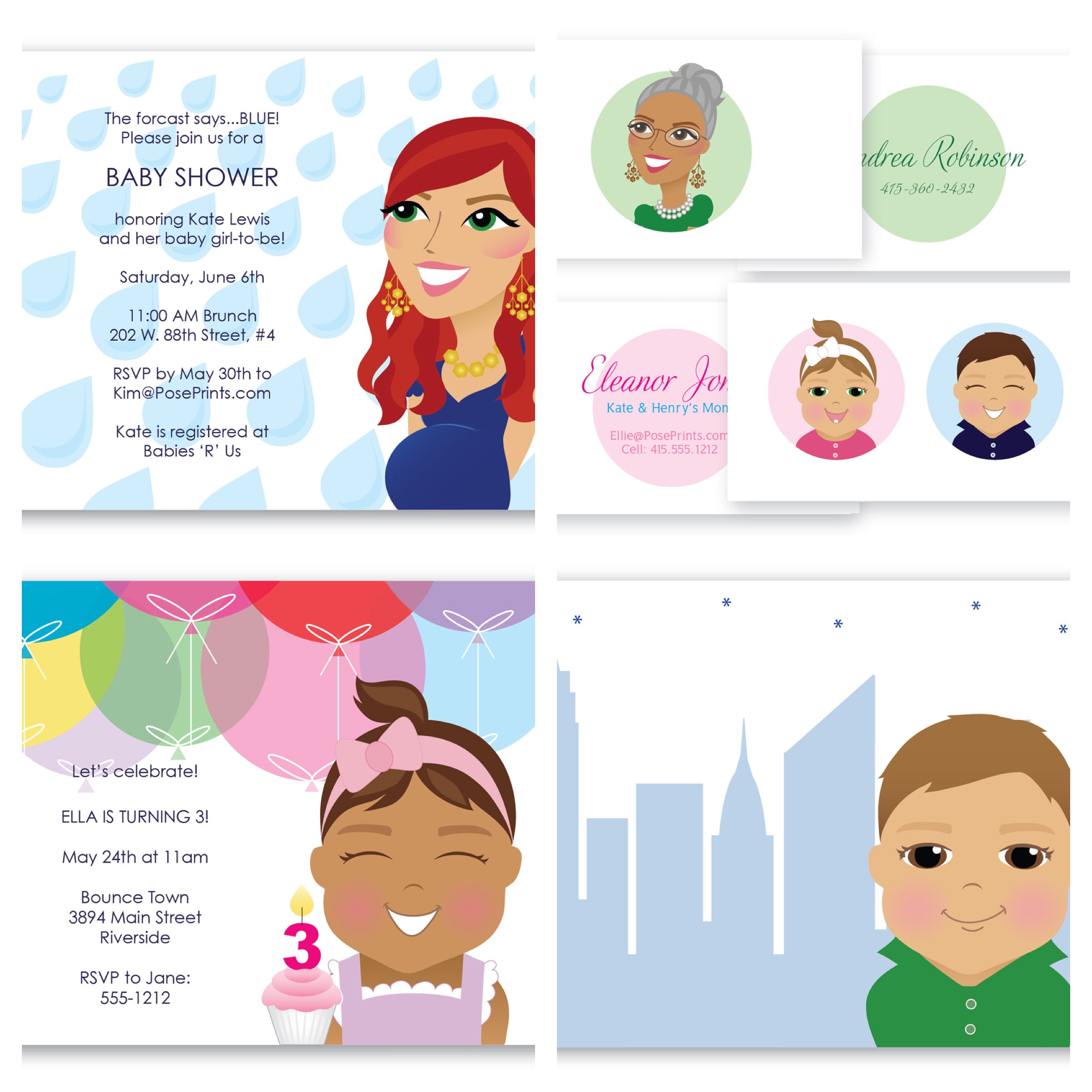 $$100 GiftCard to Pose Prints (personalized products including stationery, invitations, etc)