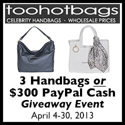3 Handbags or Paypal Giveaway