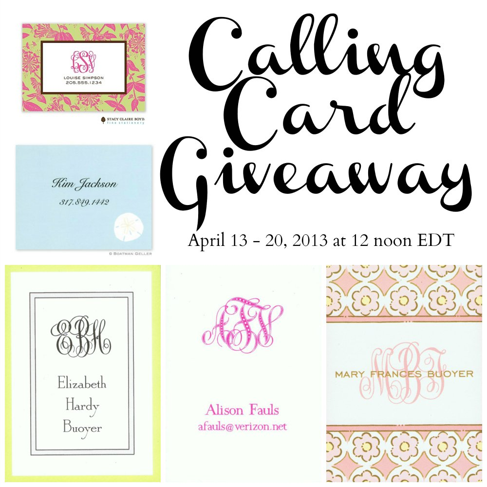 Three Month Anniversary Calling Card Giveaway