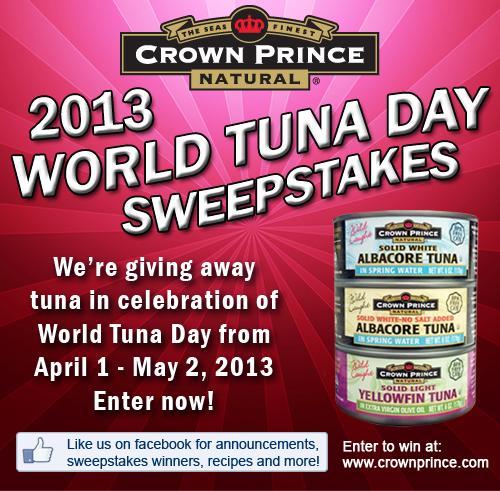 Crown Prince 2013 World Tuna Day Sweepstakes