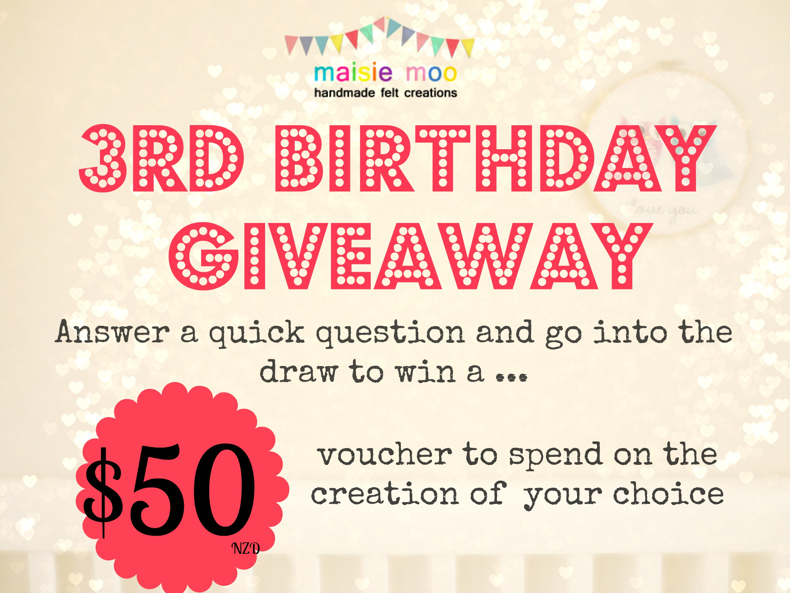 Win $50 voucher for Maisie Moo Felt Creations