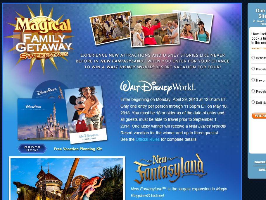 Magical Family Getaway Sweepstakes
