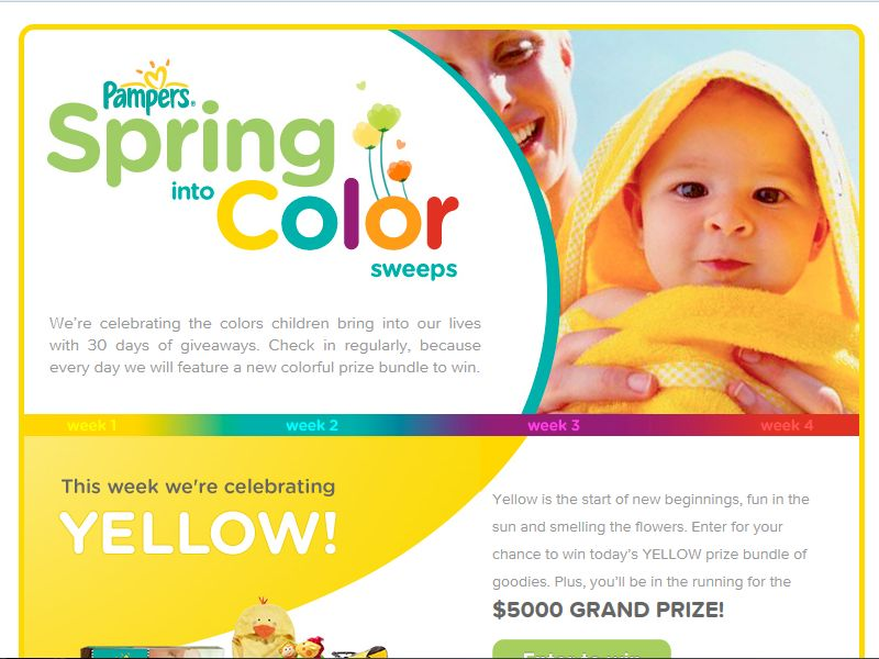 Pampers Spring into Color Sweepstakes