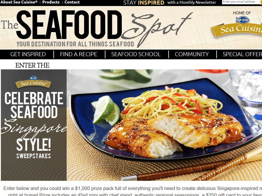 High Liner Sea Cuisine Celebrate Seafood Singapore Style Sweepstakes