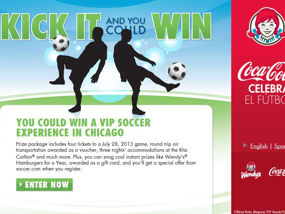 Wendy's Kick It and You Could Win Sweepstakes