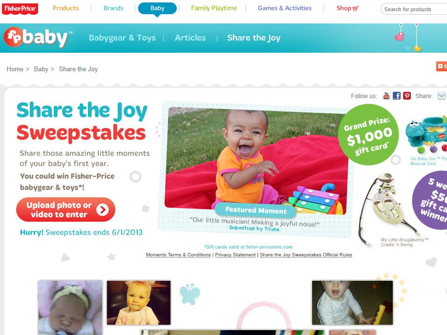 Fisher-Price Share the Joy Sweepstakes