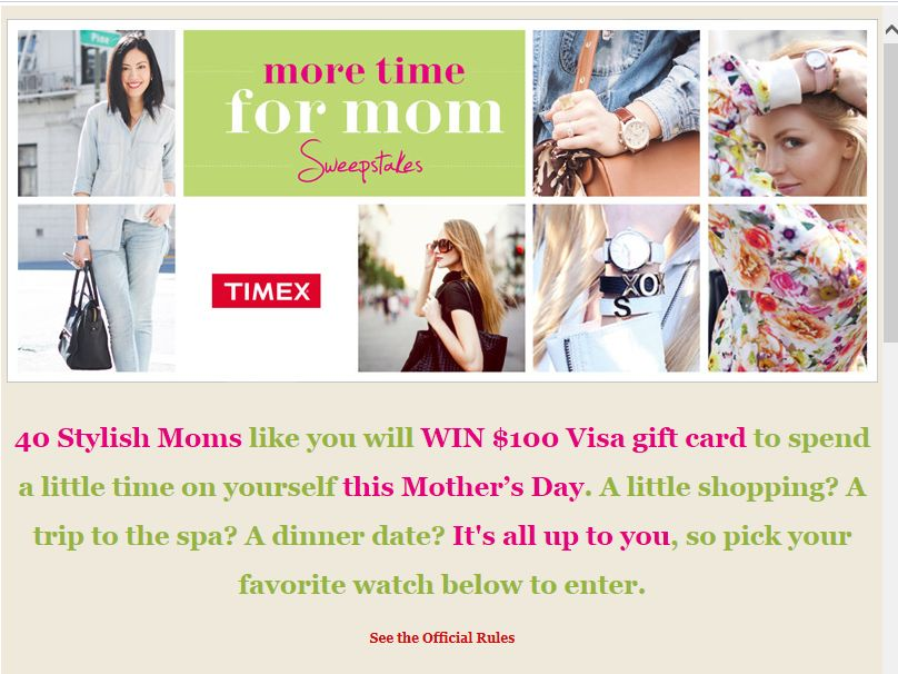 Timex Mother's Day Sweepstakes