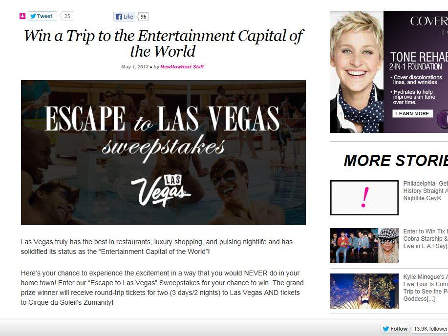 Escape to Las Vegas Sweepstakes