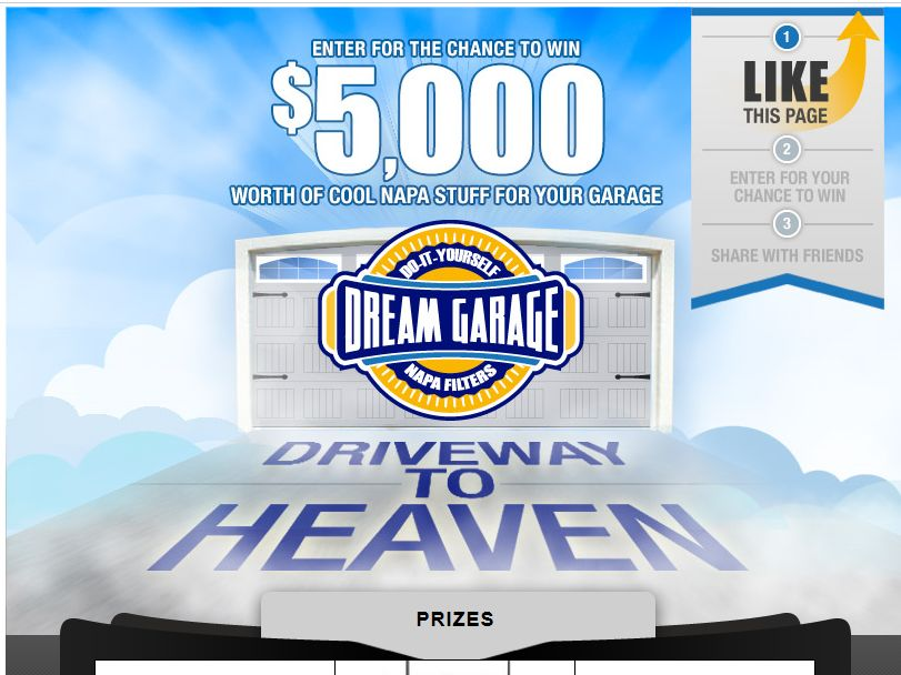 NAPA Filters DIY Dream Garage Sweepstakes