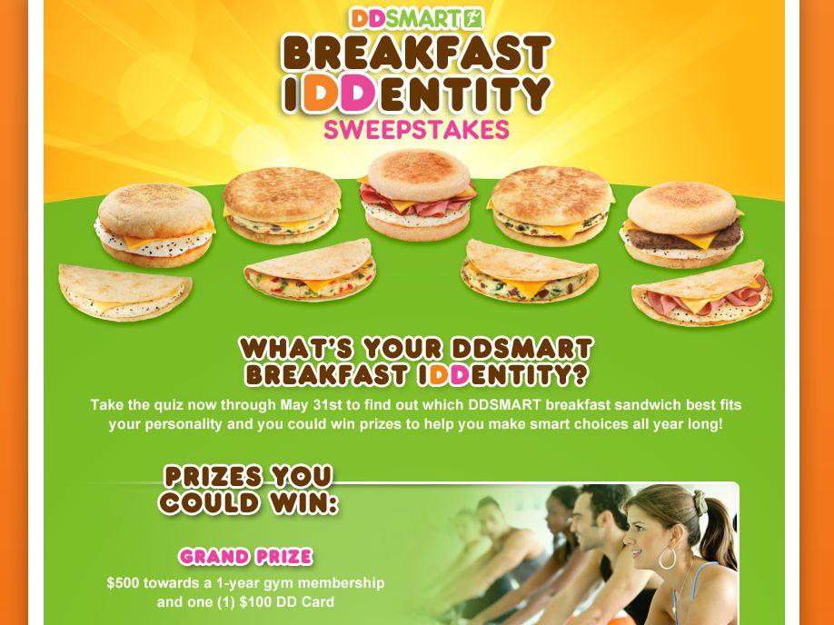 DDSmart Breakfast IDDentity Sweepstakes