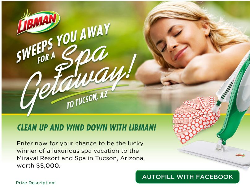 Let Libman Sweep You Away for a Spa Getaway! Sweepstakes