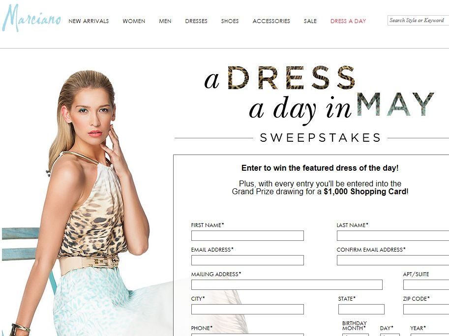 A Dress a Day in May Sweepstakes