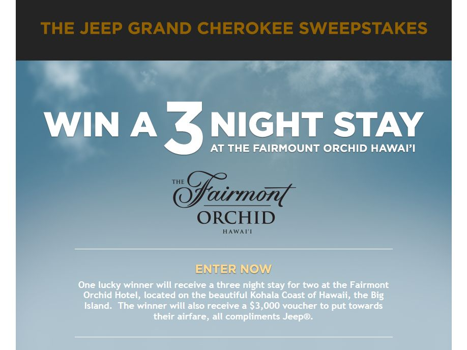 Jeep Grand Cherokee Your Best Made Better Sweepstakes