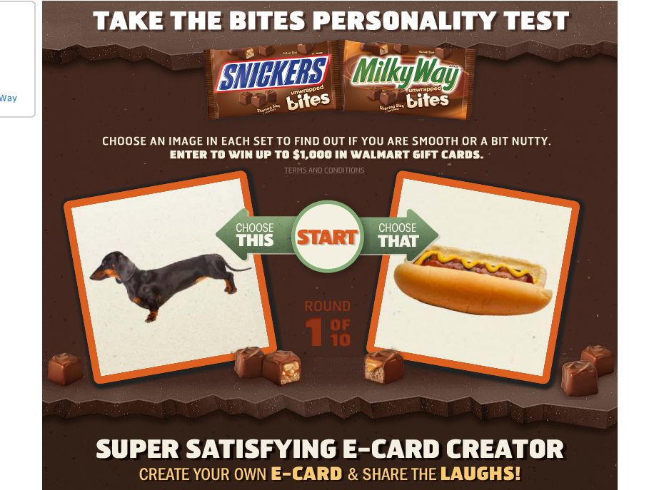 Snickers Bites Sweepstakes
