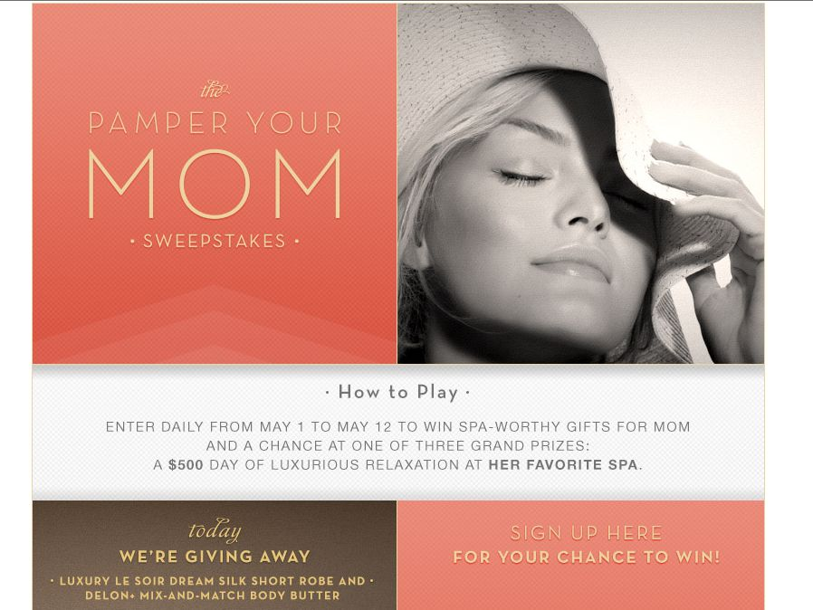 Overstock.com Pamper Your Mom Sweepstakes