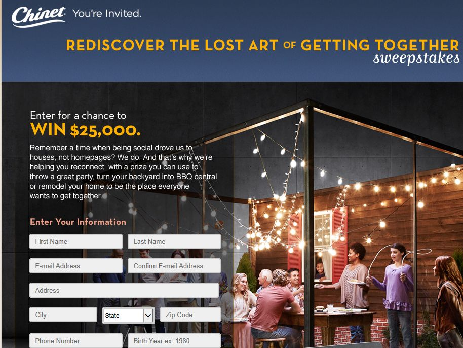 Lost Art of Getting Together Sweepstakes