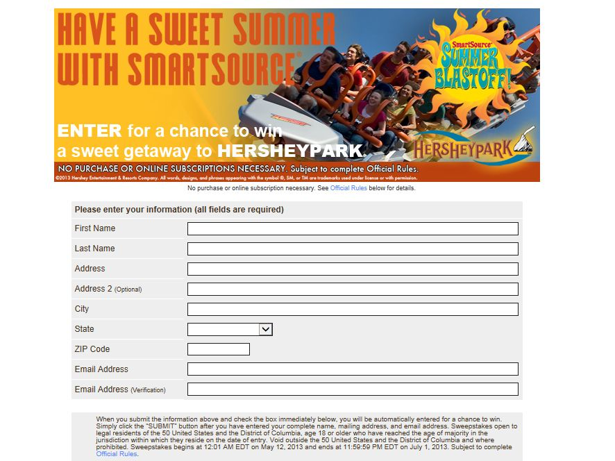 Smartsource Summer Blastoff Sweepstakes