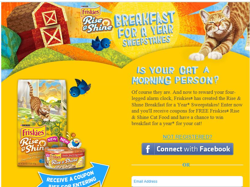 Friskies Breakfast For A Year Sweepstakes