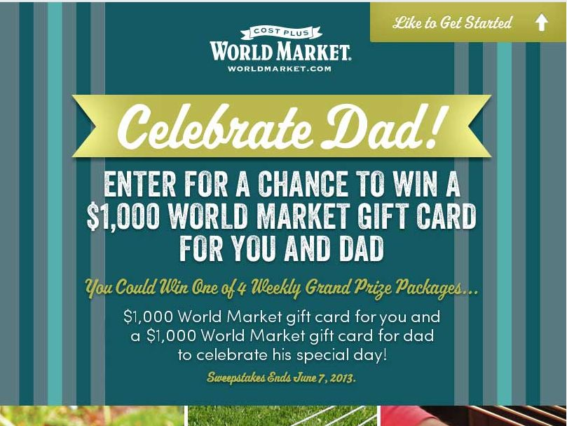 World Market's Father's Day Sweepstakes