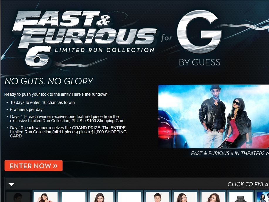 G By Guess Fast 6 Limited Run Sweepstakes