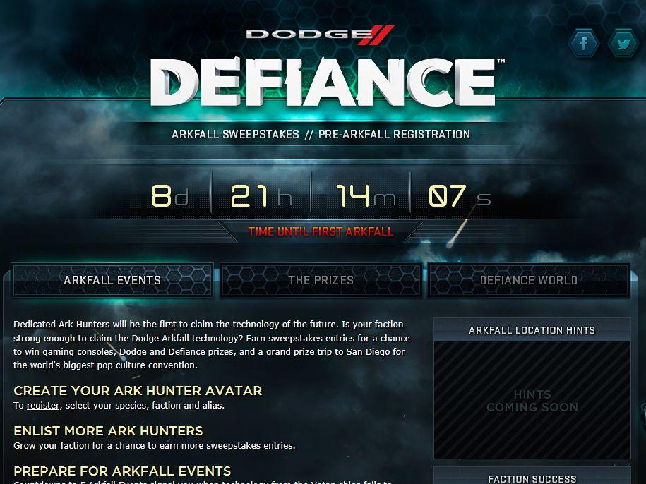 Dodge Defiance Sweepstakes