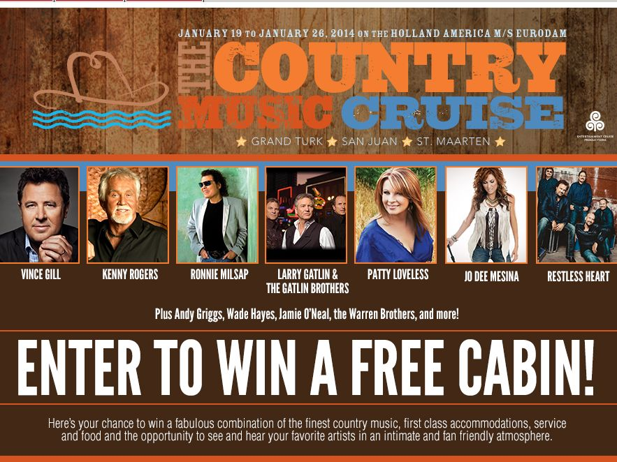 Country Music Cruise Online Sweepstakes