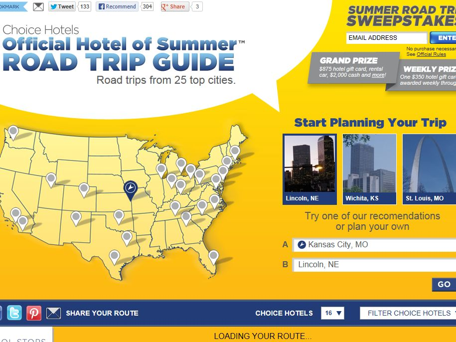 Choice Hotels Summer Road Trip Sweepstakes
