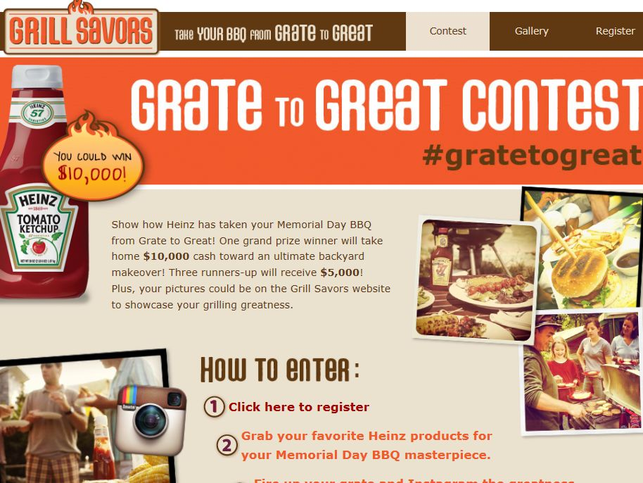 Heinz Grate to Great Contest