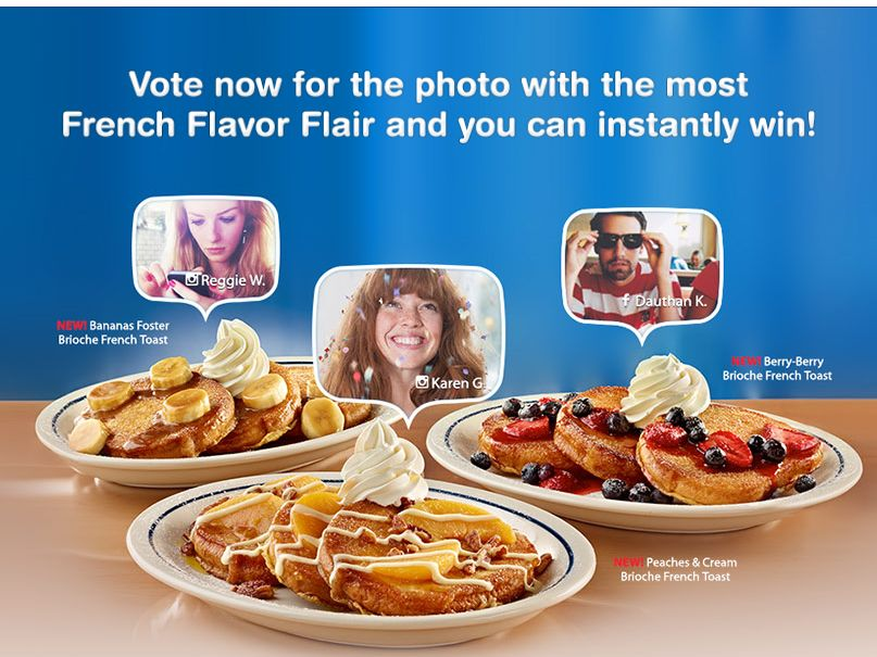IHOP French Flavor Flair Photo Contest