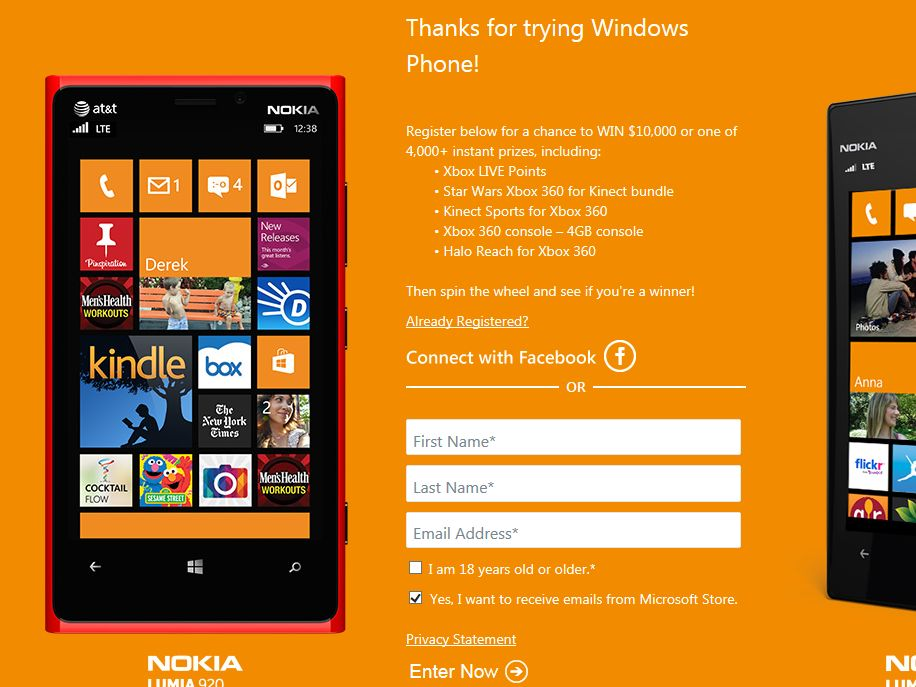 Windows Phone Demo Sweepstakes