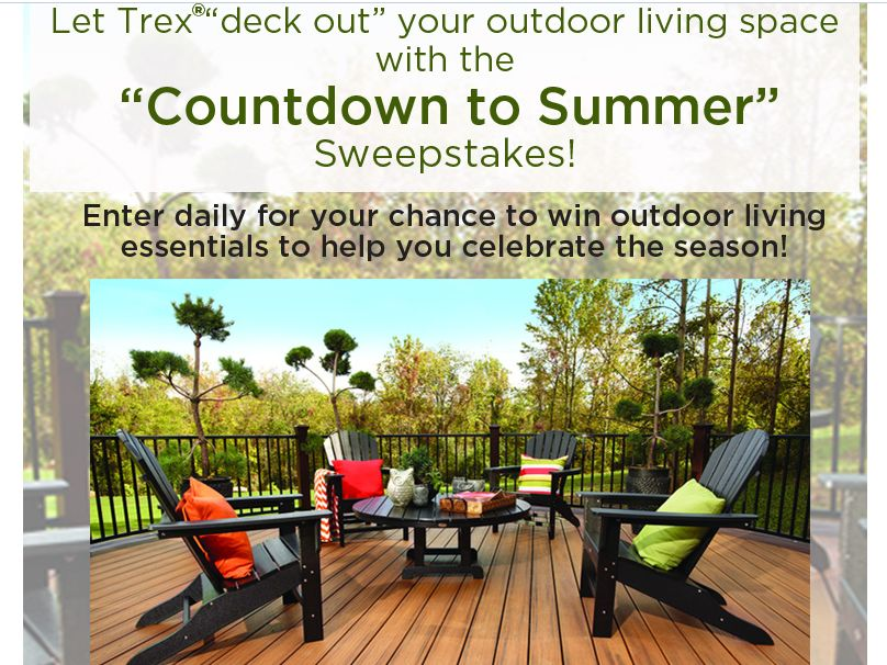 Trex Countdown To Summer Sweepstakes