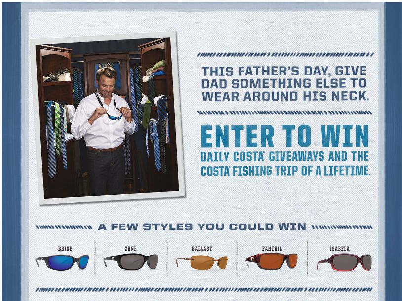Costa Sunglasses Father's Day Sweepstakes