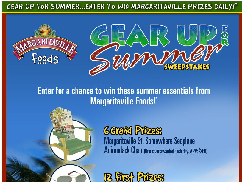 Margaritaville Gear Up for Summer – Memorial Day Sweepstakes