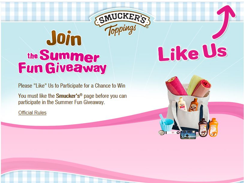 Smucker's Ice Cream Toppings Summer Fun Giveaway Sweepstakes