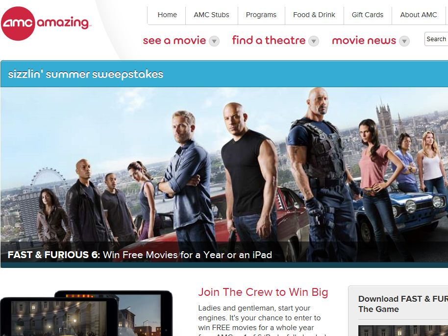 "AMC Theatres ""Fast & Furious 6"" Sweepstakes"