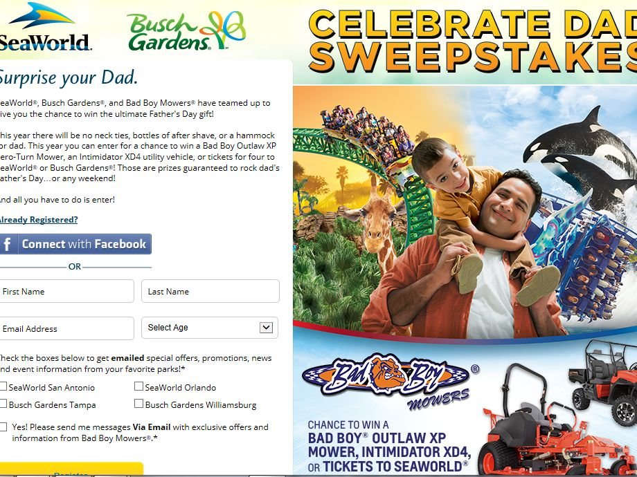 Celebrate Dad Sweepstakes