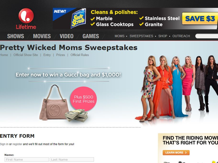 Lifetime's Pretty Wicked Moms Sweepstakes