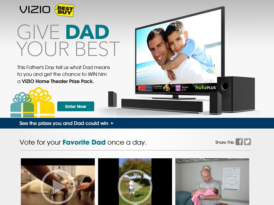 Give Your Dad The Best Grand Prize Contest