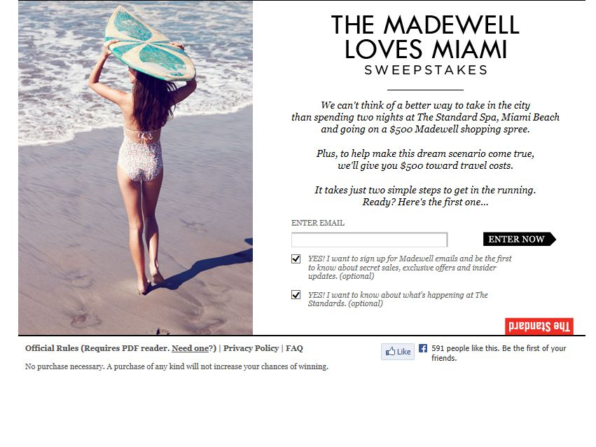 Madewell Loves Miami Sweepstakes