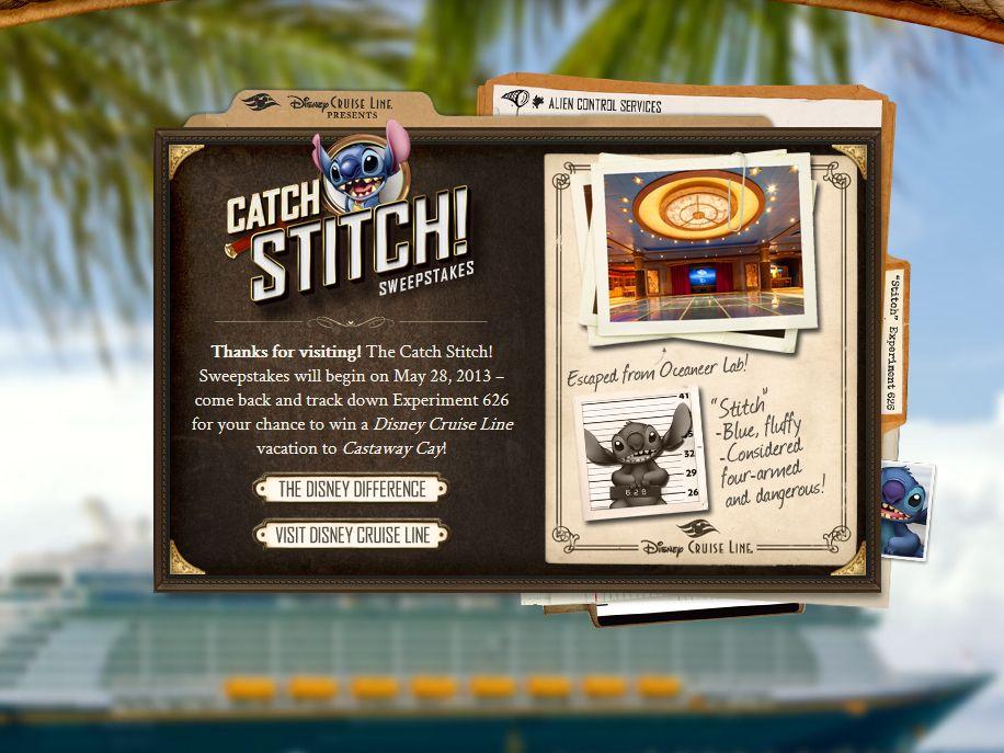 Disney Cruise Line Presents: Catch Stitch! Sweepstakes