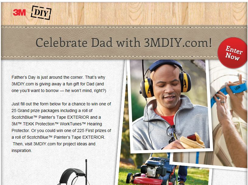 Dad's Day Giveaway Sweepstakes